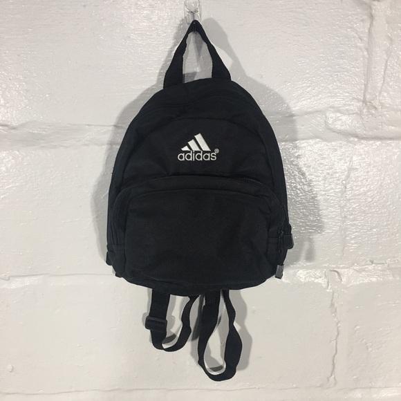 adidas Handbags - Adidas Vintage Mini Backpack Small Black White